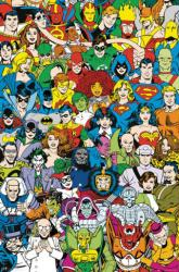 DC Comics poster: Retro Characters Good vs. Evil (24x36)