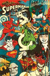 DC Comics poster: Throwback Super Heroes Montage (22 X 34) New