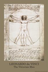 Leonardo Da Vinci poster: Vitruvian Man (24'' X 36'')