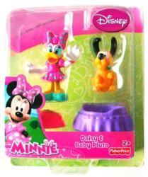 Minnie: Daisy & Baby Pluto figure set (Fisher Price) Disney Daisy Duck