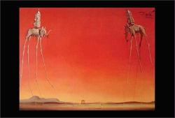 "Salvador Dali poster: Les Elephants (36"" X 24"") New"