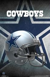 Dallas Cowboys poster: Helmet (NFL) 22x34