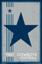 Dallas Cowboys poster: Retro Logo (22x34) NFL