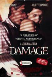 Damage movie poster [Jeremy Irons, Juliette Binoche] 27x40 video