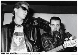 The Damned poster: 100 Club Punk Festival, 21st September, 1976