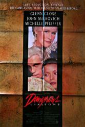 Dangerous Liaisons movie poster [Glenn Close/Malkovich/Pfeiffer] 27x41