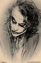 The Dark Knight poster: Joker Sketch [Heath Ledger] 22x34