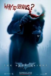 The Dark Knight movie poster: Why So Serious? [Heath Ledger] 27x39