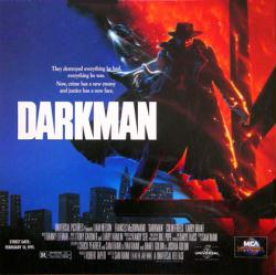 Darkman movie poster flat [1990 Sam Raimi film] 12x12