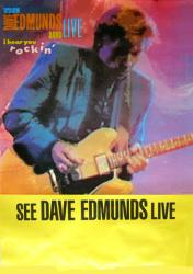 "Dave Edmunds Band poster: I Hear You Rockin' Live (23"" X 31.5"") 1987"