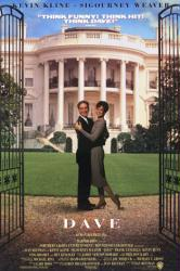 Dave movie poster [Kevin Kline & Sigourney Weaver] video poster