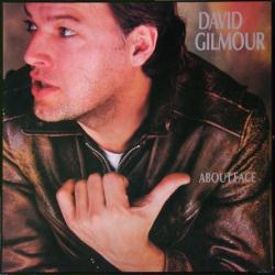 David Gilmour poster: About Face vintage LP/Album flat