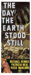 The Day the Earth Stood Still movie poster (13x30 Insert style) 1951