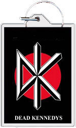 """Dead Kennedys keychain: Logo (1 1/2"""" X 2 1/4"""")"""