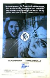 The Deadly Trap movie poster [Faye Dunaway & Frank Langella] original