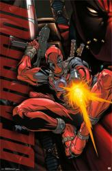 Deadpool poster: Jump (22x34) Marvel Comics