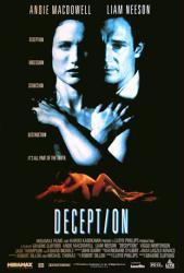 Deception movie poster [Andie MacDowell/Liam Neeson] aka Ruby Cairo