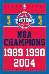 Detroit Pistons poster: NBA Champions (22x34)