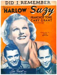 Did I Remember vintage sheet music [Jean Harlow, Cary Grant] Suzy
