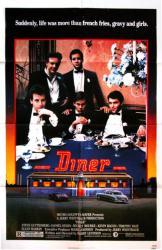 Diner movie poster [Guttenberg, Rourke, Bacon] 27x41 original 1982