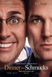 Dinner For Schmucks movie poster [Steve Carell & Paul Rudd] advance