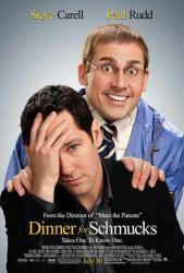 Dinner For Schmucks movie poster [Steve Carell & Paul Rudd] one-sheet