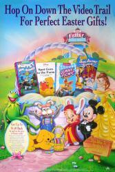 Disney's Easter Video Shoppe poster (1995) Mickey Mouse, Kermit & Spot