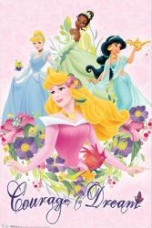Disney Princess poster: Courage to Dream (22 1/2'' X 34'') New