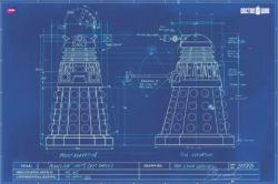 Doctor Who poster: Daleks Blueprint (36'' X 24'')