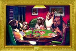 C.M. Coolidge poster: Dogs Playing Poker (A Bold Bluff) 36'' X 24''