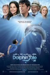 Dolphin Tale movie poster [Harry Connick Jr, Morgan Freeman] original