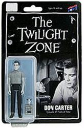 "The Twilight Zone: Don Carter 4"" figure (Bif Bang Pow) B&W"