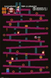Donkey Kong video game poster: Game Board (24 X 36) Nintendo
