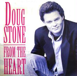 Doug Stone poster: From the Heart vintage LP/Album flat