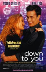 Down to You movie poster [Freddie Prinze Jr. & Julia Stiles] video/NM