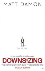 Downsizing movie poster [Matt Damon, Alexander Payne] 27x40 original