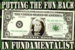 Dubya Dollar poster: 420 (36 X 24) Burnin' Bush