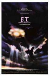 E.T. The Extra-Terrestrial movie poster [UFO in clouds] 11'' X 17''