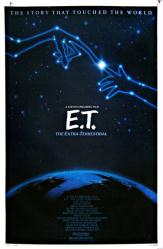 E.T. The Extra-Terrestrial movie poster (1985 release) original 27x41