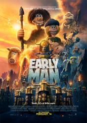 Early Man movie poster [a Nick Park film] 27x40 original