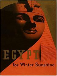Egypt poster: Egypt for Winter Sunshine (18x24) Travel poster