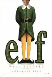 Elf movie poster [Will Ferrell] original 27x40 advance teaser