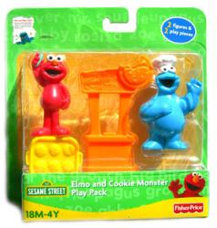 Sesame Street: Elmo and Cookie Monster figure Play Pack (Fisher Price)