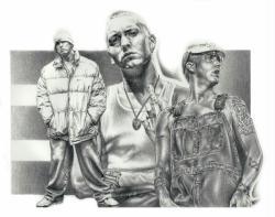 Eminem poster/print (22 1/2'' X 17 1/2'') Mike Duran art