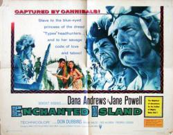 Enchanted Island movie poster [Dana Andrews, Jane Powell] 28x22