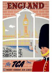 England poster: Fly TCA, Trans-Canada Airlines (18x24) Travel poster