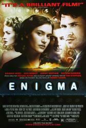 Enigma movie poster [Kate Winslet, Saffron Burrows, Jeremy Northam]