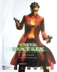 Enter the Matrix video game poster (22x28) promo poster