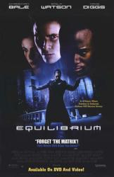 Equilibrium movie poster [Christian Bale, Emily Watson & Taye Diggs]
