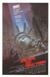 Escape from New York movie poster [John Carpenter, Kurt Russell] 27x40